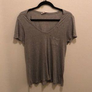 Distressed  Grey T-Shirt by Alexander Wang